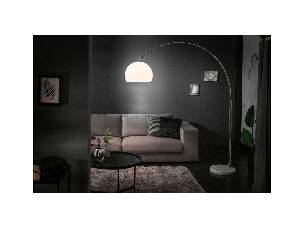 Moderní stojací lampa - Molie, bílá