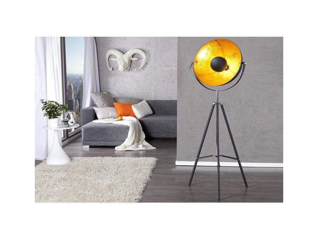 Moderní stojací lampa - Vasilisa, černá