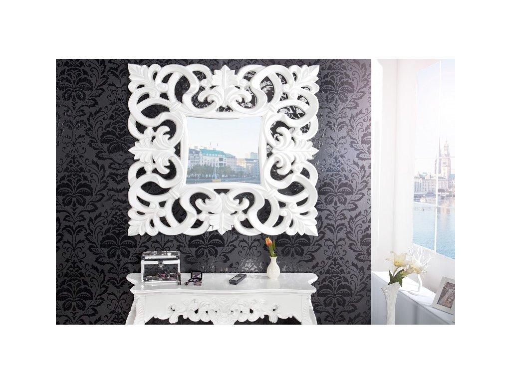 Moderní nástěnné zrcadlo - Venice, bílé
