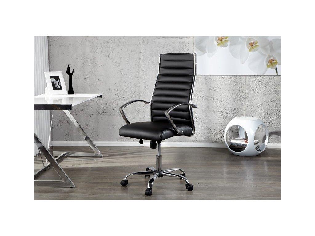 Moderní kancelářské křeslo - Jessie, černé