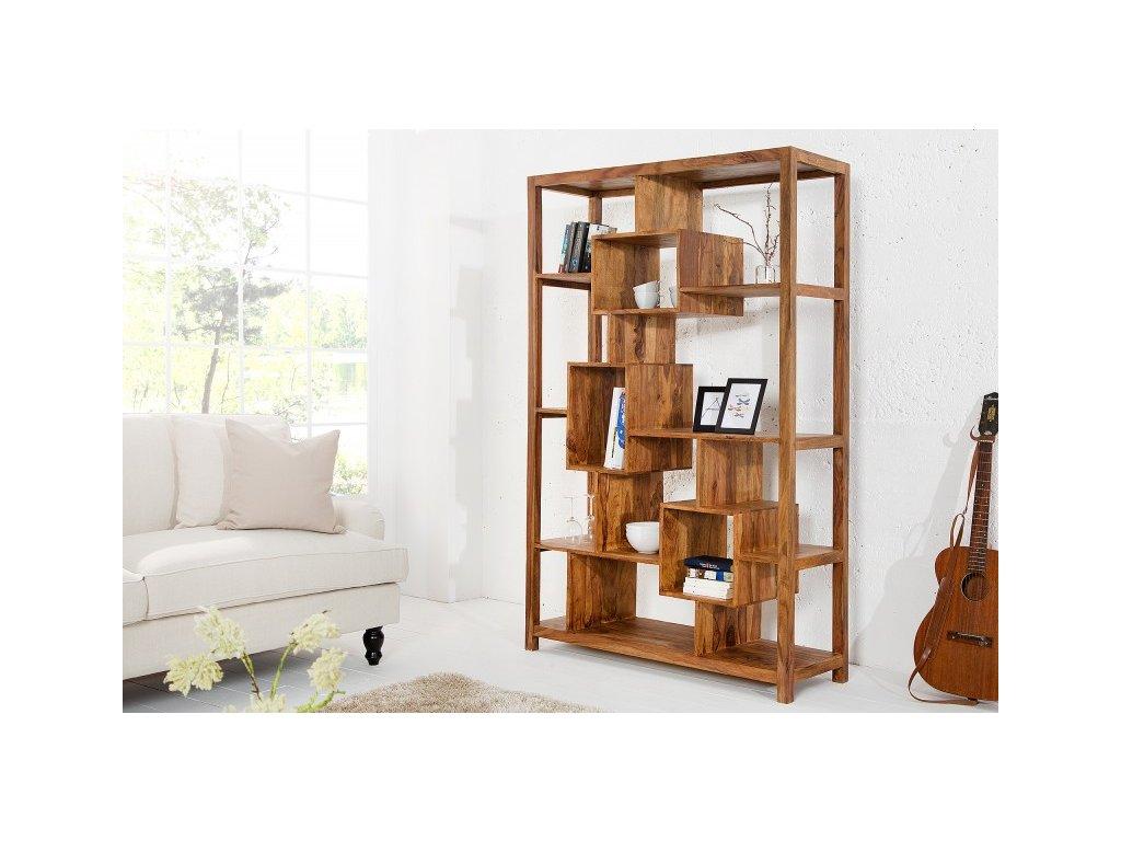 Moderní dřevěná knihovna - Daniel