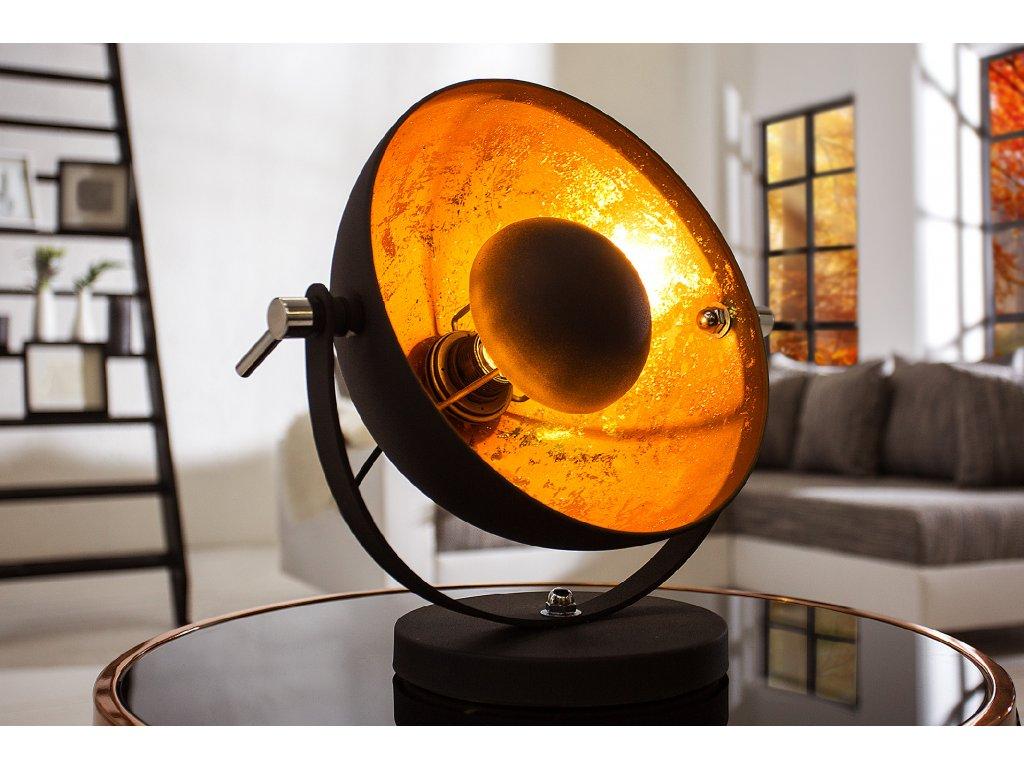 Retro stolní lampa - Rebecca, zlatá
