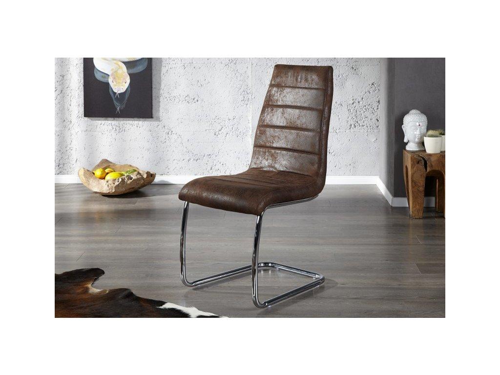 Moderní židle - Pablo, hnědá