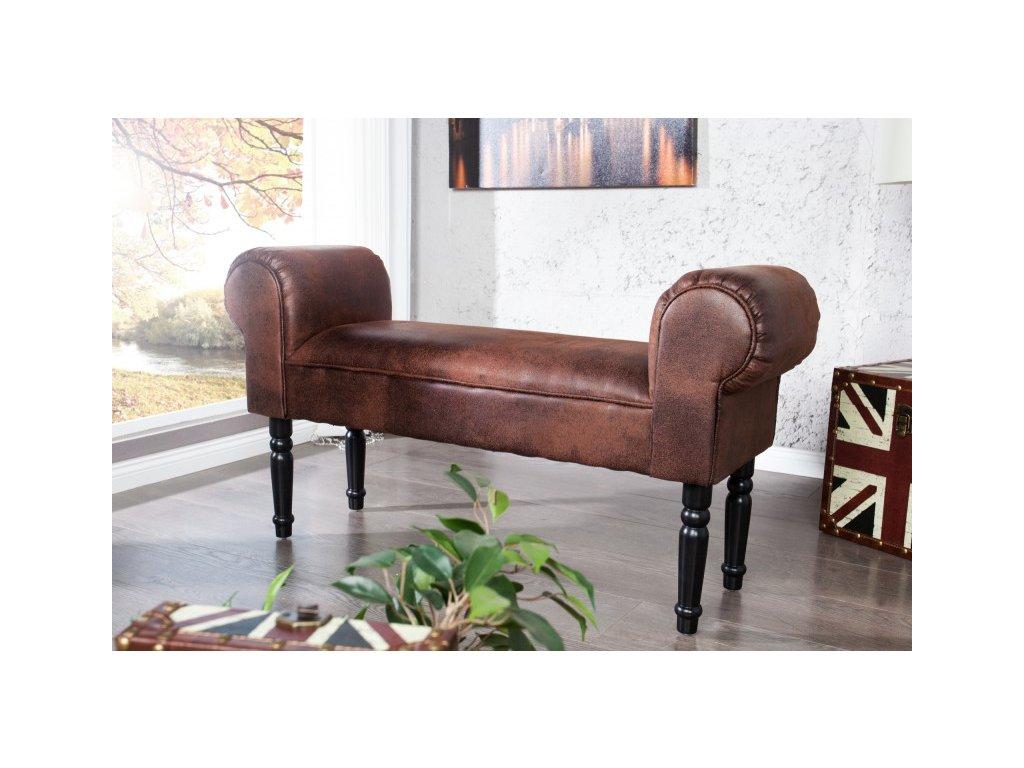 Luxusní lavice - Merlin, kávová