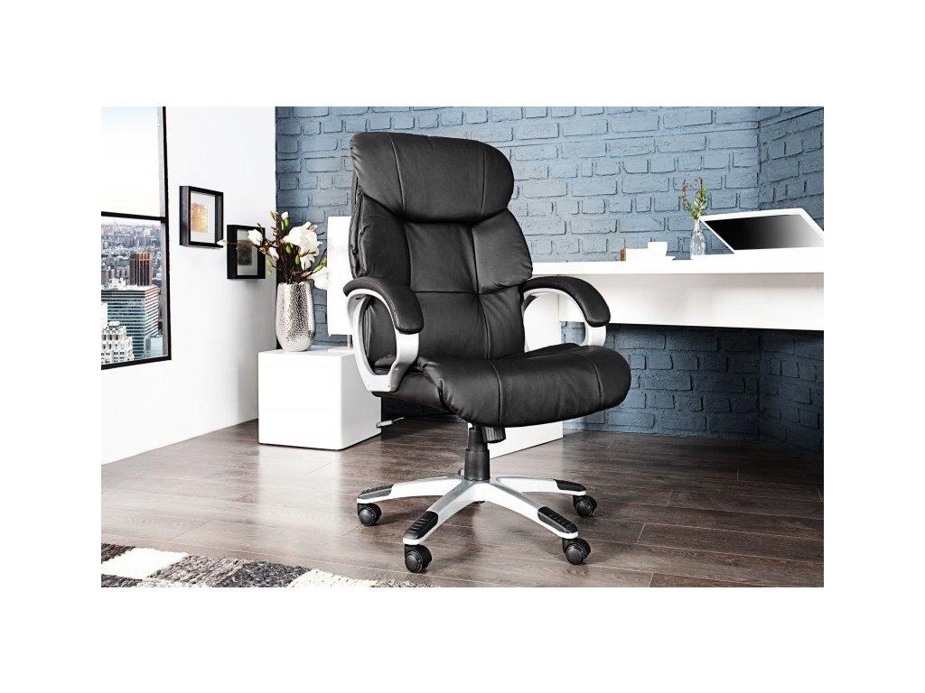 Moderní kancelářské křeslo - Marco Polo, černé