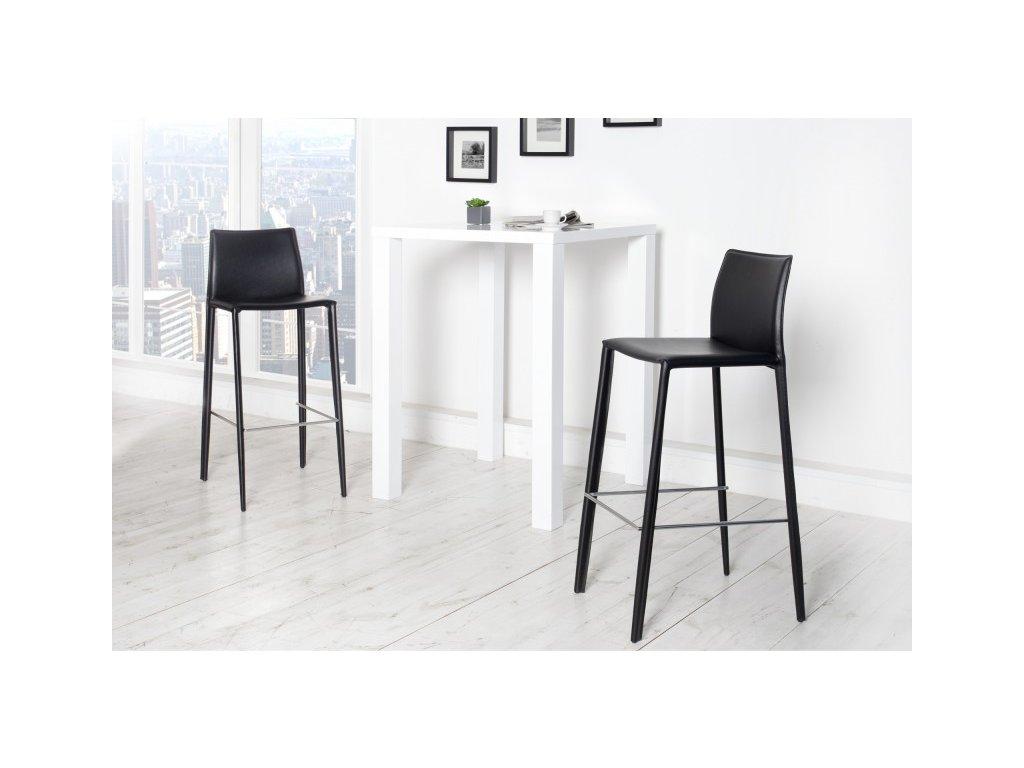 Moderní barová židle - Tower, černá