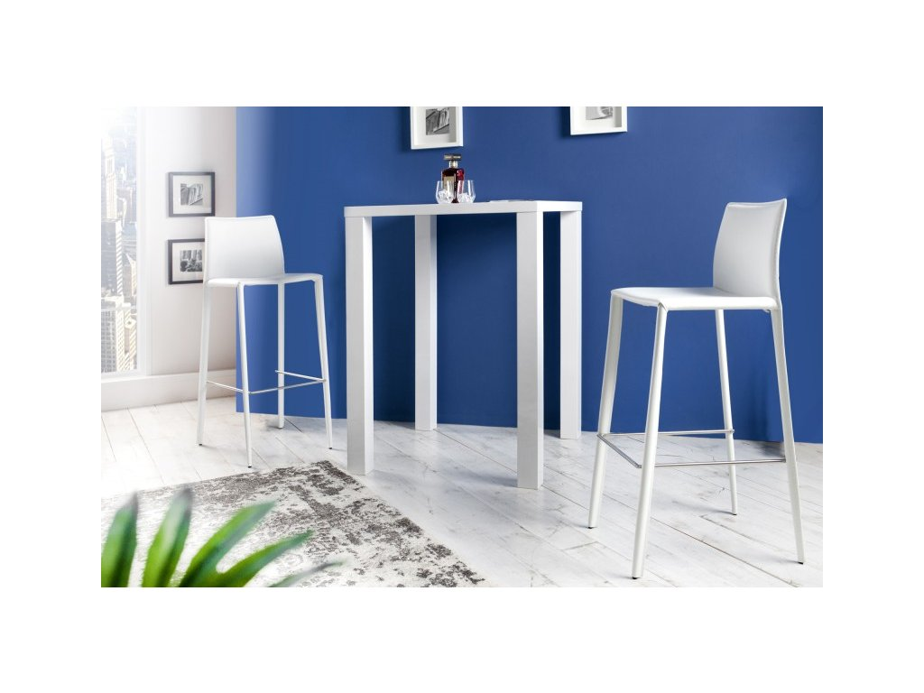Moderní barová židle - Tower, bílá