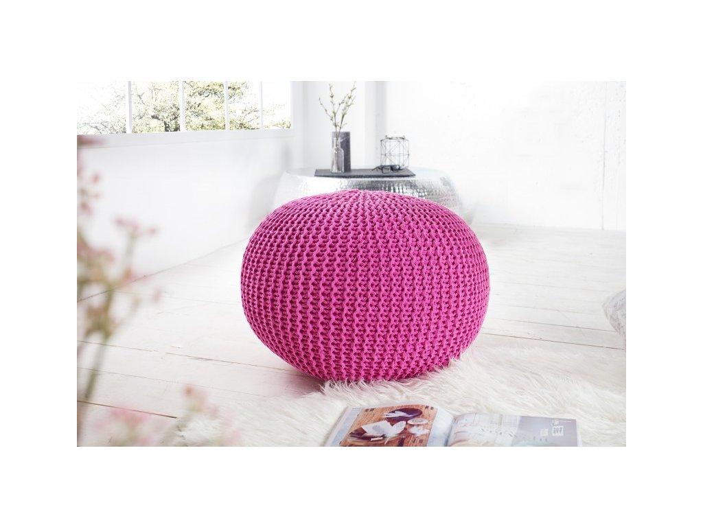 Stylový taburet - Imagine, růžový