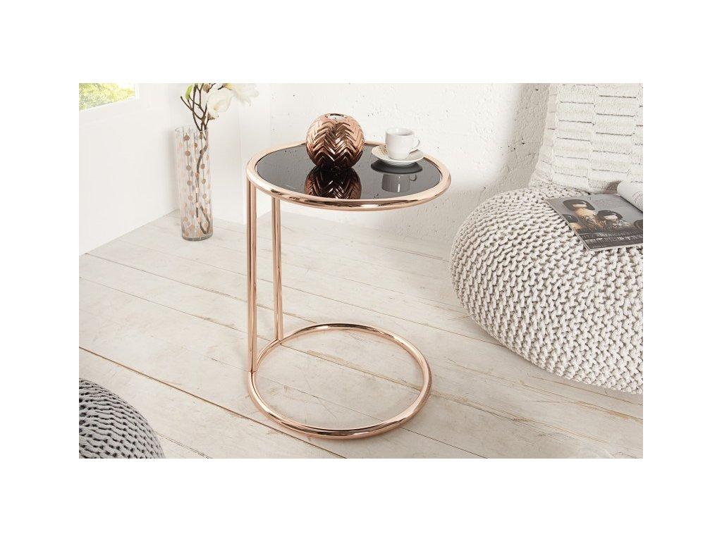 Moderní odkládací stolek - Cesena, měděný