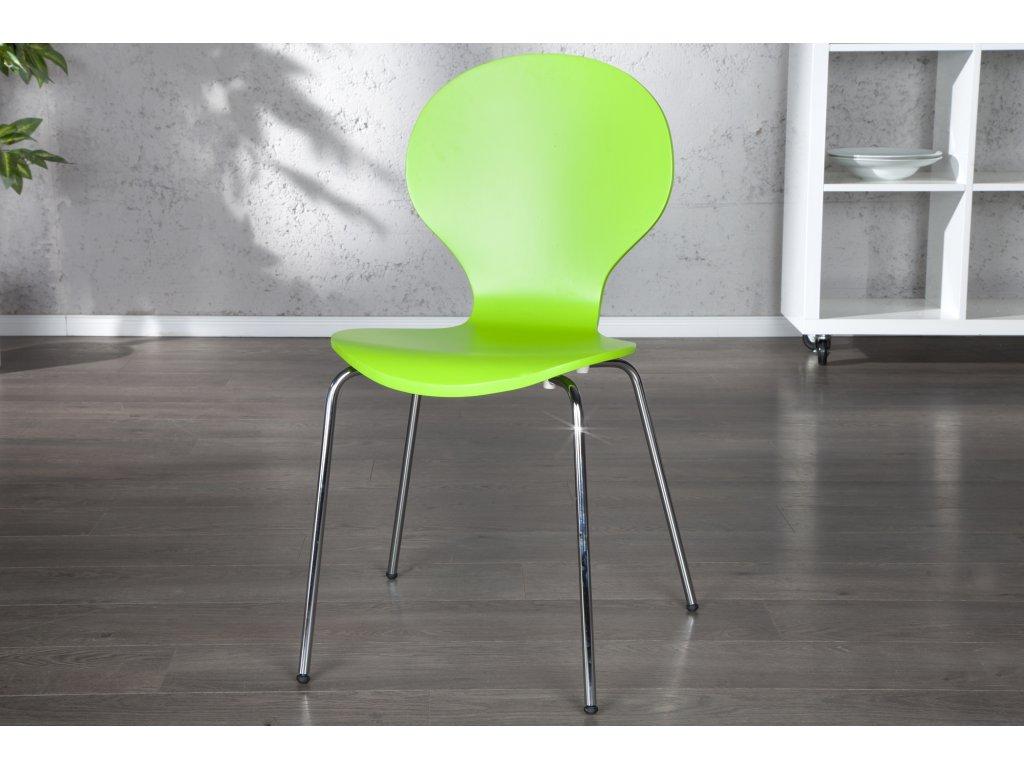 Moderní židle - Lily, zelená