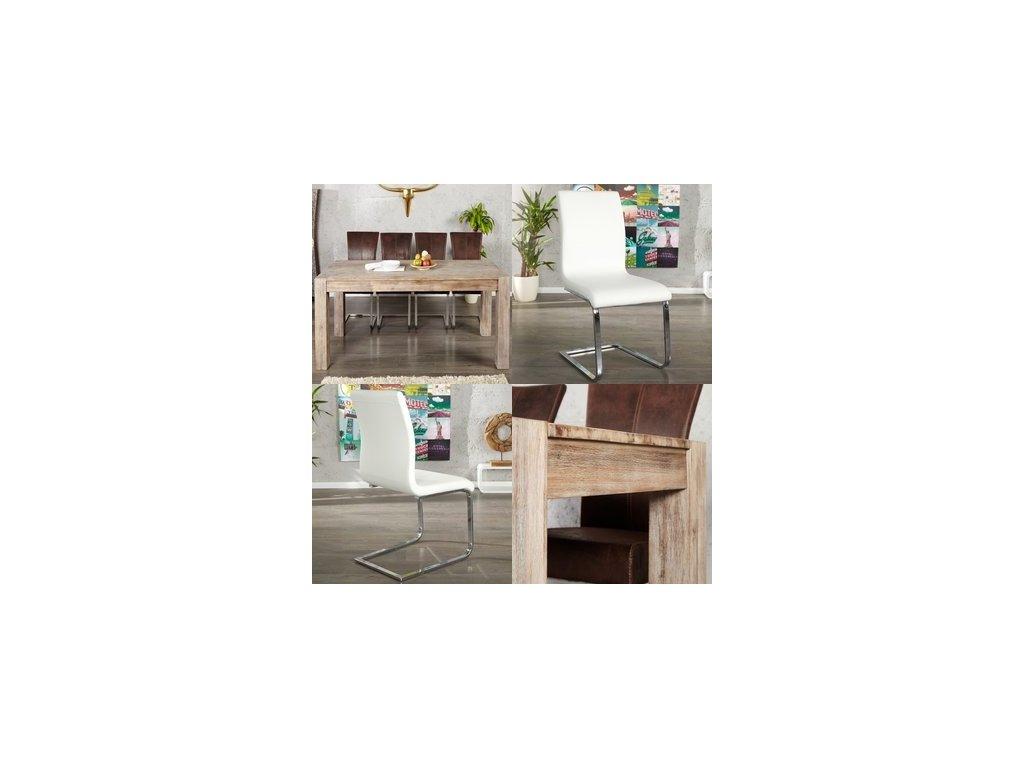 Masivní jídelní stůl - Jacopo, malý (set)