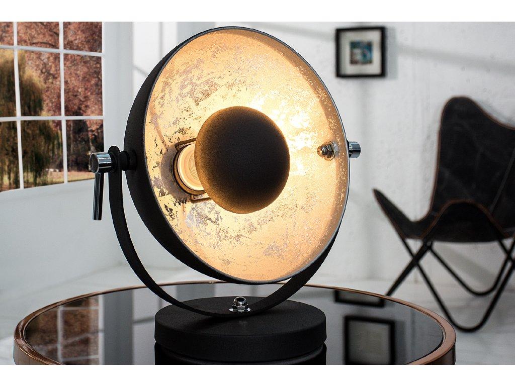 Retro stolní lampa - Rebecca, stříbrná
