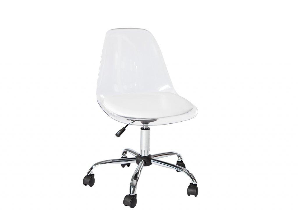 Moderní kancelářské křeslo - David, bílé