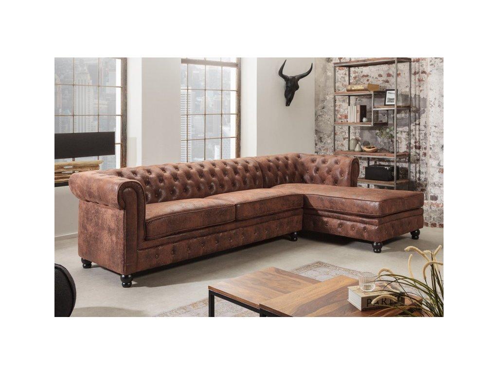 Luxusní sedačka - Alessandro, hnědá