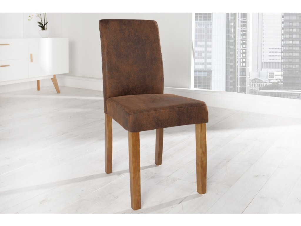 Moderní židle - Flavio, hnědá