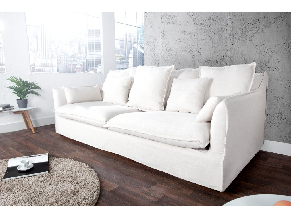 Moderní pohovka - Lisa, bílá