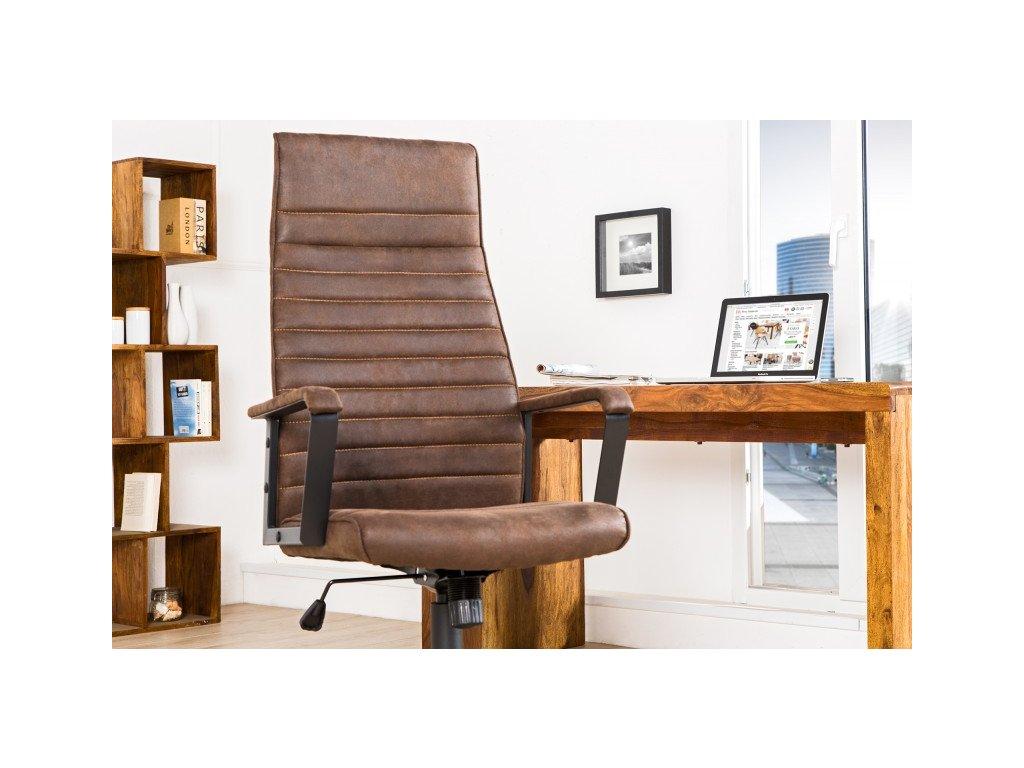 Moderní kancelářské křeslo - Victoria, hnědé