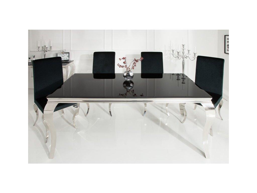 Moderní jídelní stůl - Barocco, černý, malý