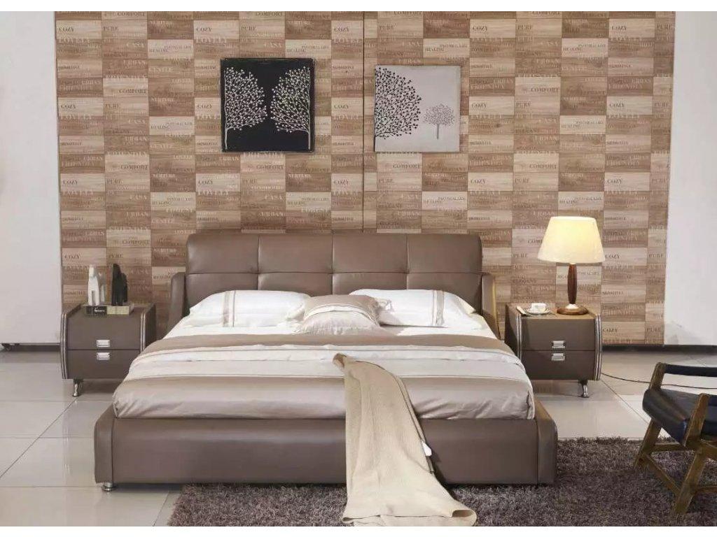 Moderní kožená postel - Marlene
