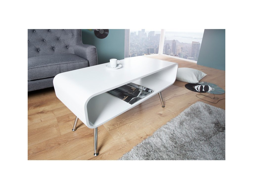 Moderní konferenční stolek - Arvid bílý