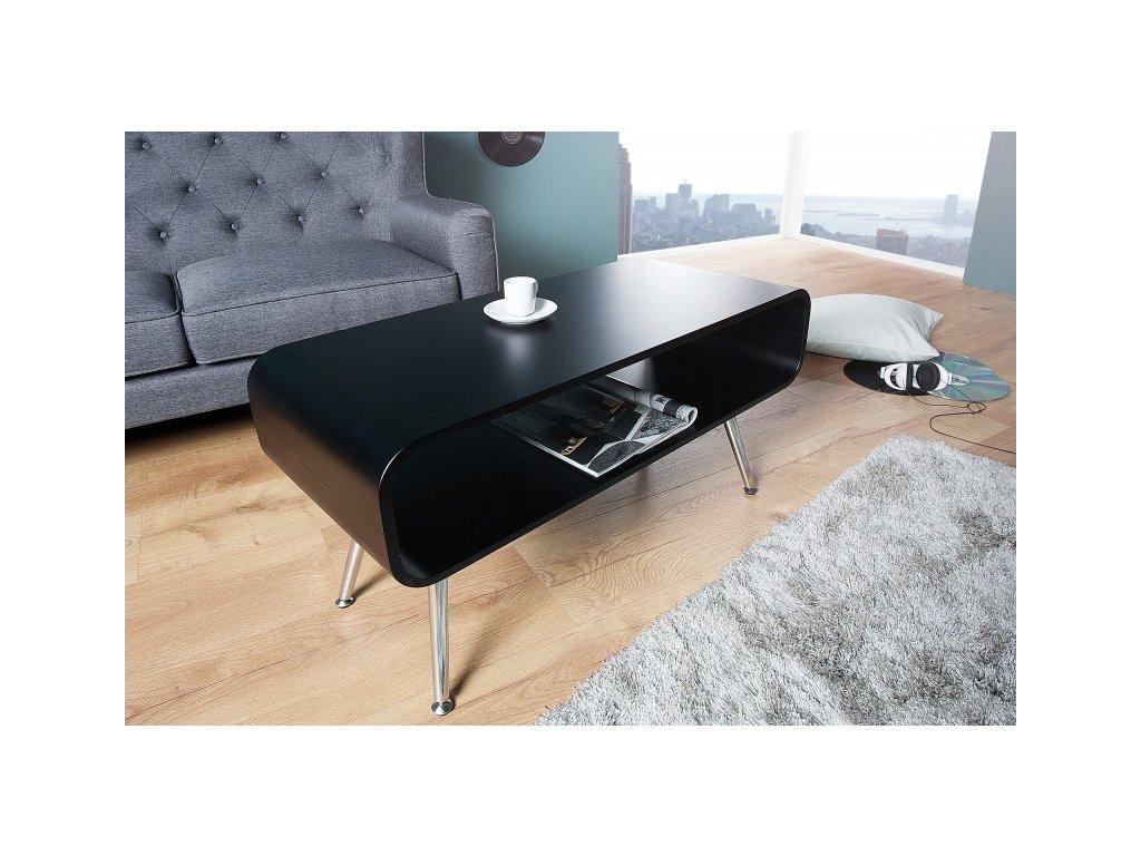 Moderní konferenční stolek - Arvid černý