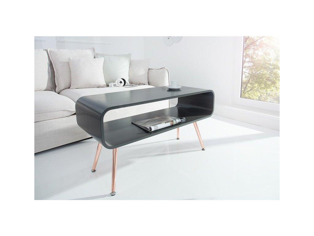 Moderní konferenční stolek - Arvid šedý