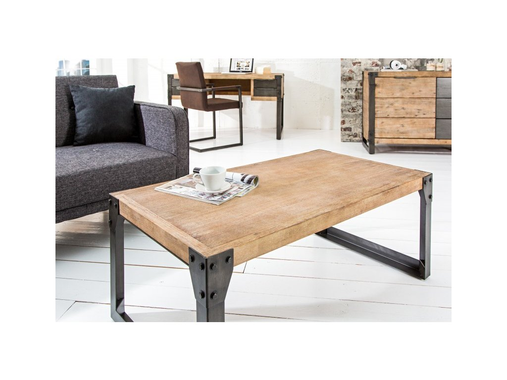 Masivní konferenční stolek - Eric