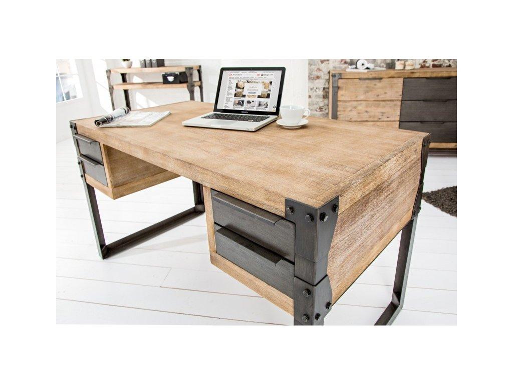 Masivní psací stůl - Eric