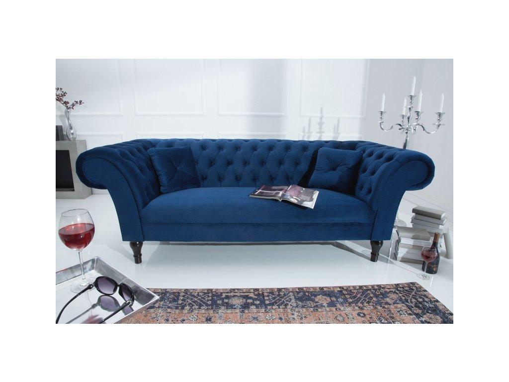 Luxusní pohovka -  Belinda,královská modř