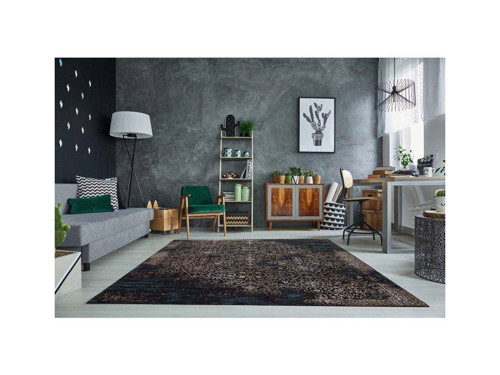 Stylový koberec - Neapol,tmavě modrý