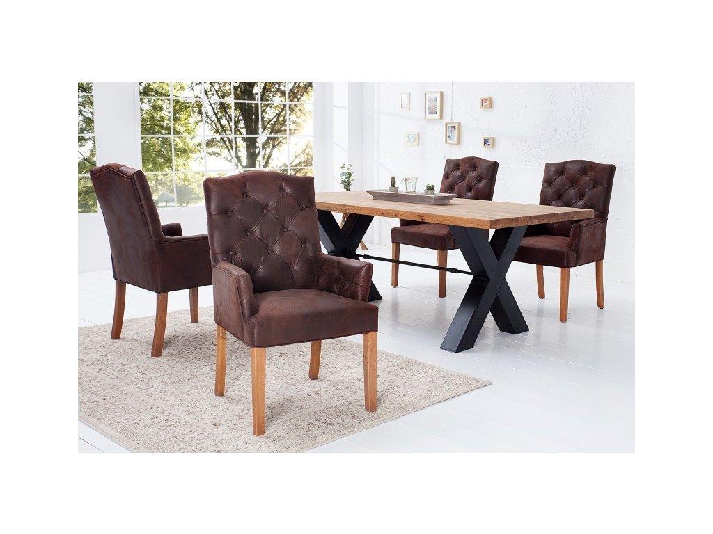 Moderní židle - Elisa,hnědá