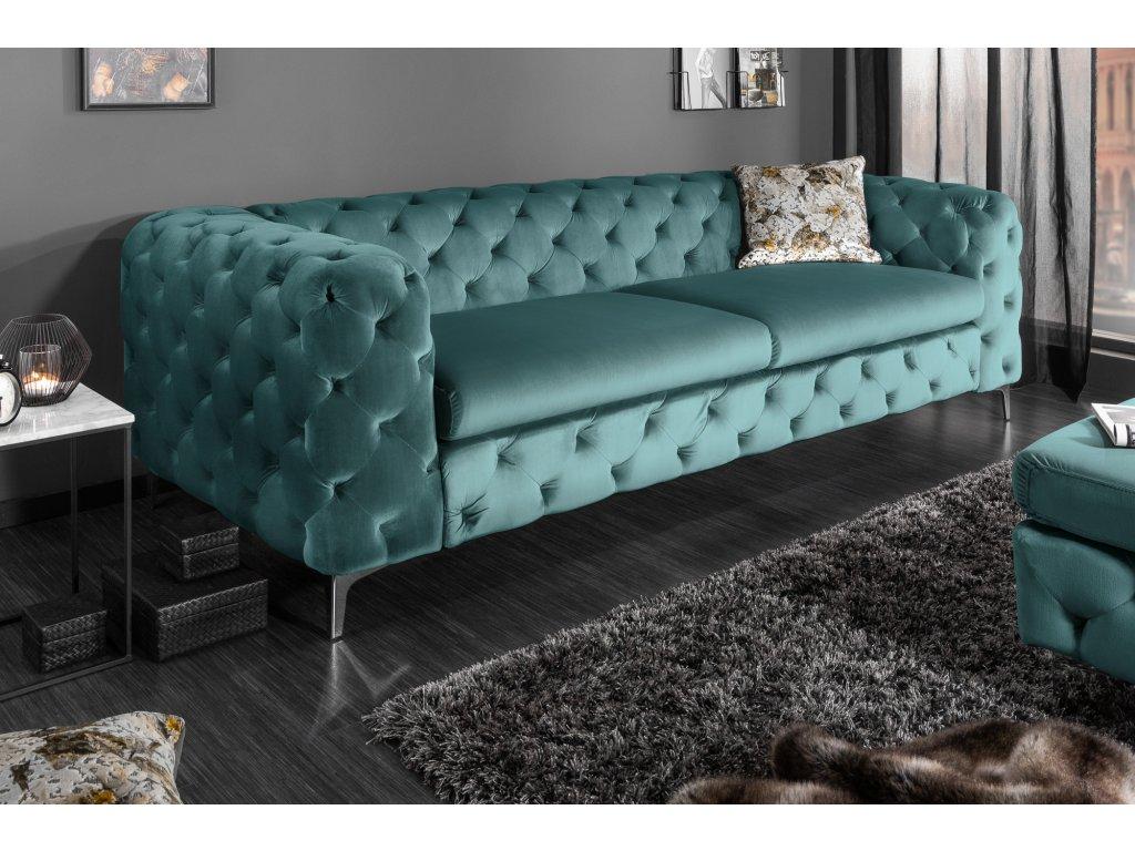 Luxusní pohovka - Igino, modrá