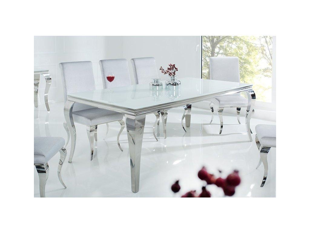 Moderní jídelní stůl - Barocco, stříbrný, velký