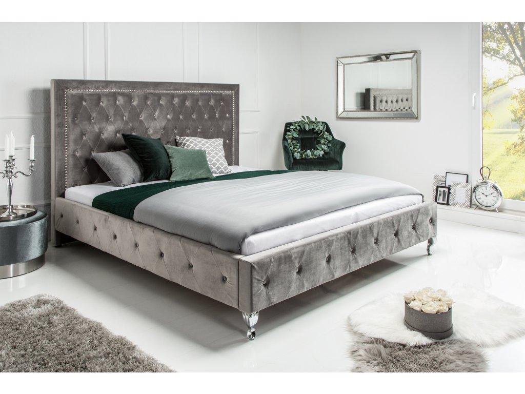 Moderní postel  Extravagancia - stříbrná