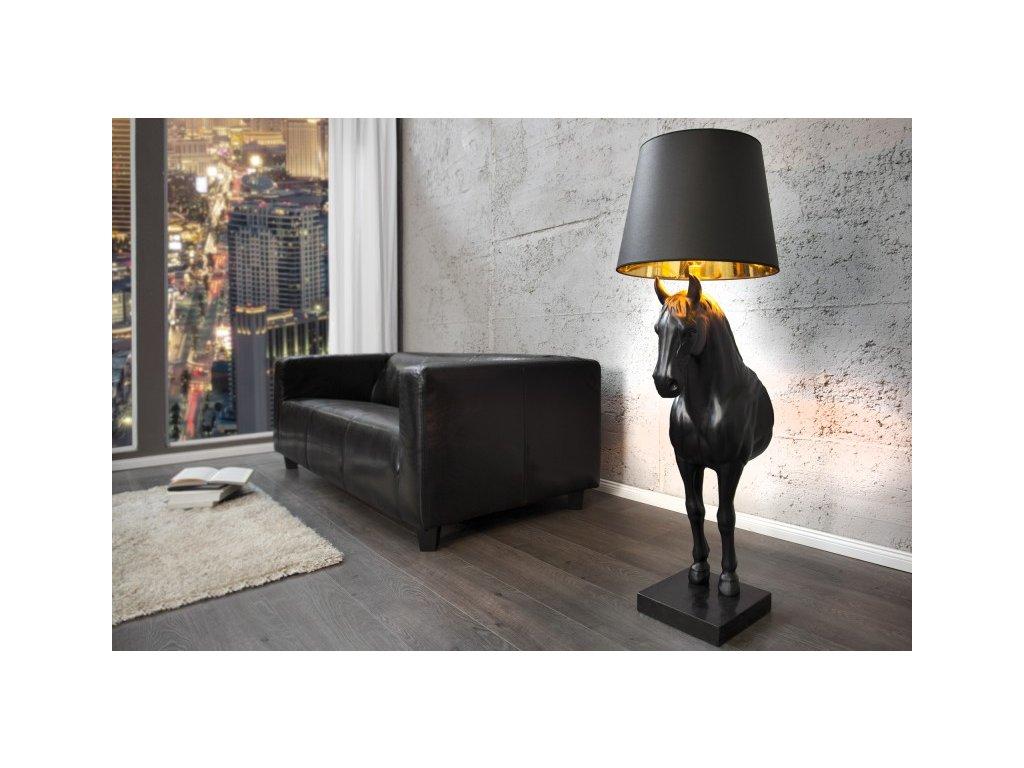 Moderní stojací lampa - Kůň