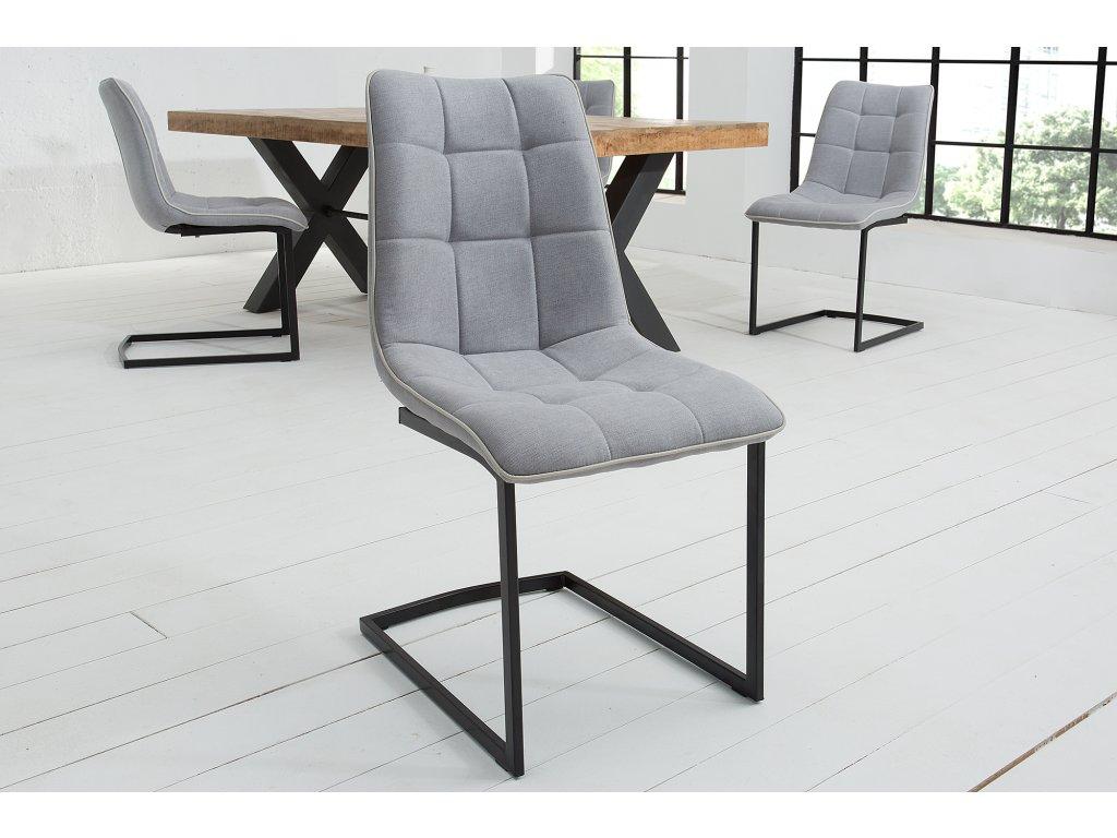 Moderní židle - Miami, světle šedá