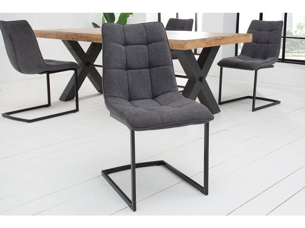 Moderní židle - Miami, tmavě šedá