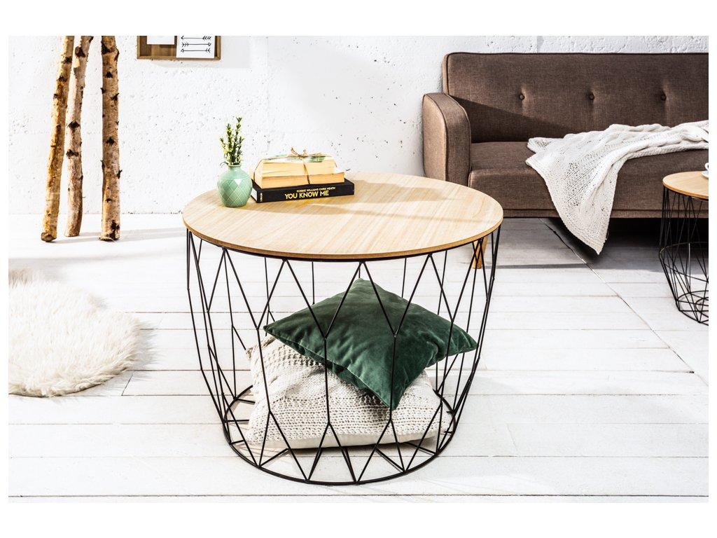 Moderní odkládací stolek - kulatý