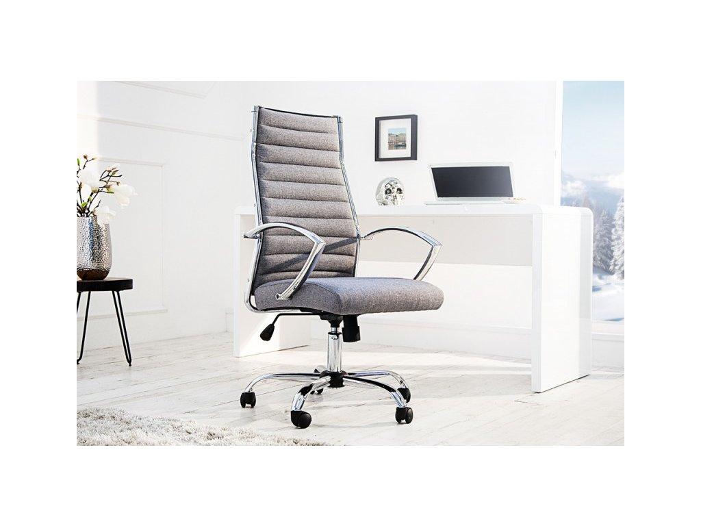 Moderní kancelářské křeslo - Jessie, šedé