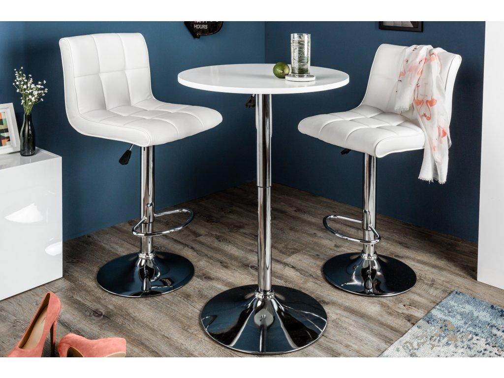 Barový stolek - Barbara,bílý