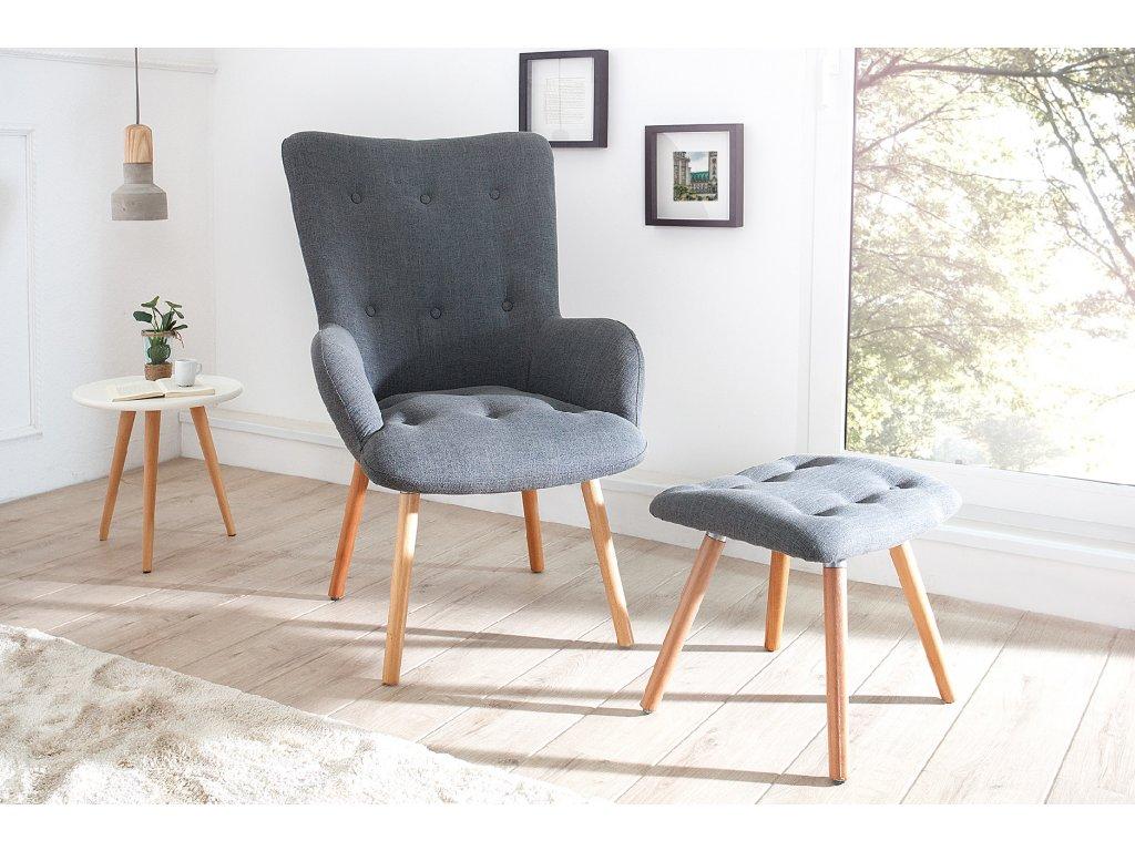 Moderní ušák - Miletos, šedé se stoličkou