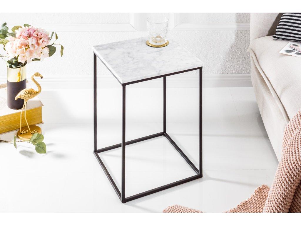 Moderní odkládací stolek - Noble,bílý