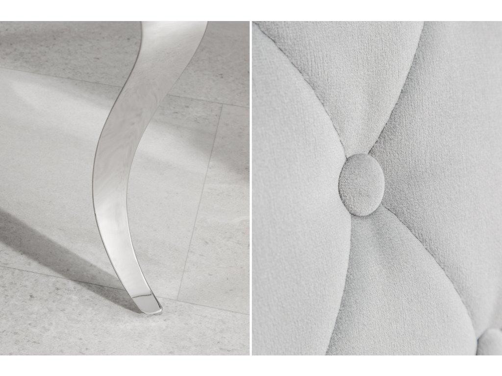 Moderní židle -  Barocco šedá