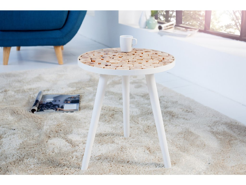 Odkládací stolek - Scandinávia, bílý