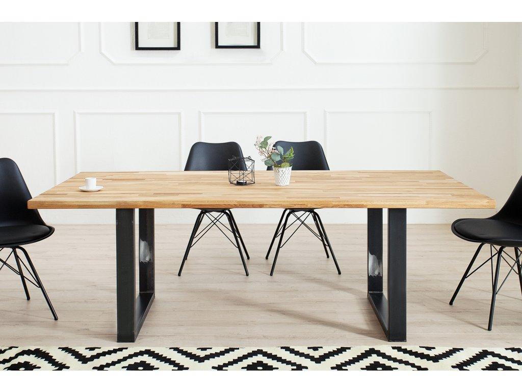 Masivní jídelní stůl - Industrial
