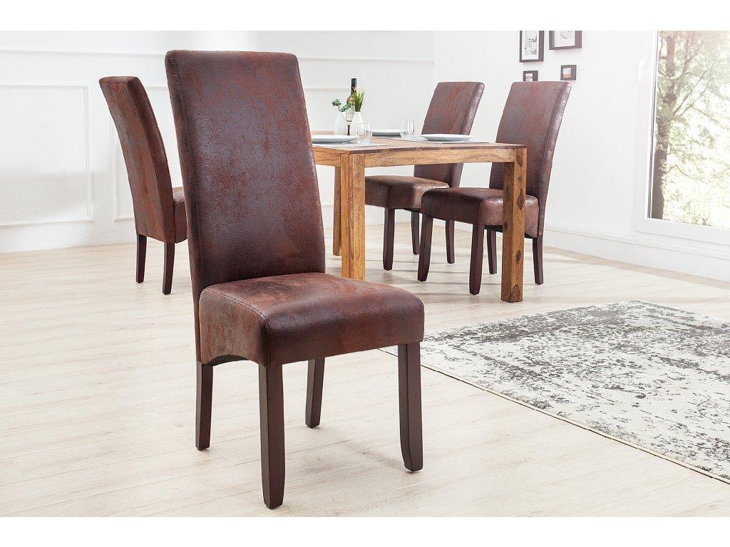 Moderní židle - Flavio, kávová
