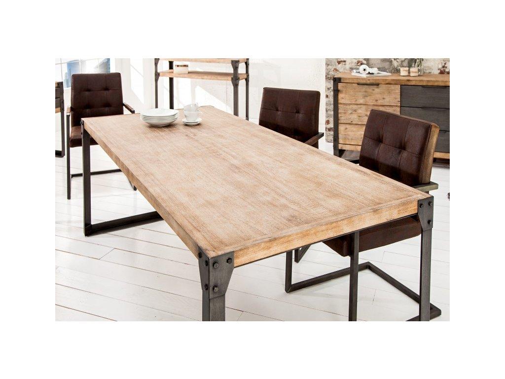 Masivní jídelní stůl - Eric, malý