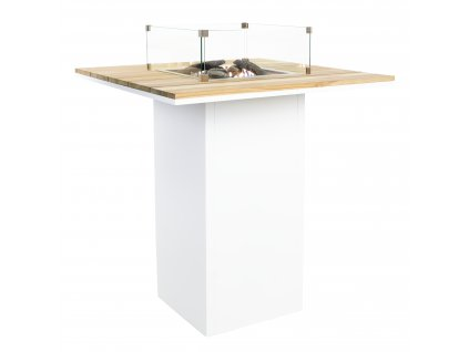5980120 Cosiloft 100 bar table white teak with glass set