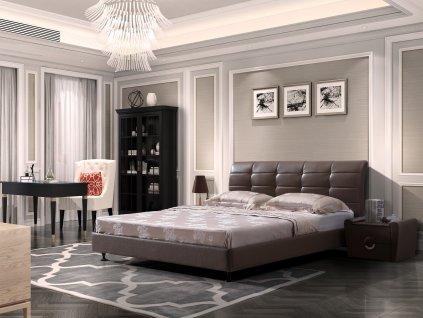 Luxusní kožená postel - Savona