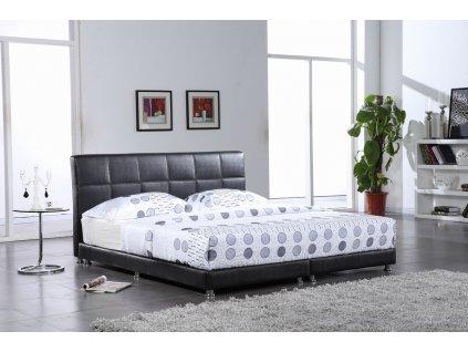 Moderní kožená postel - Monza